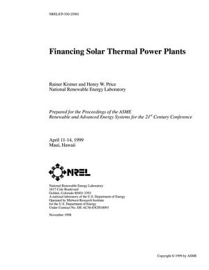 Primary view of object titled 'Financing Solar Thermal Power Plants'.