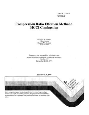 Primary view of object titled 'Compression ratio effect on methane HCCI combustion'.