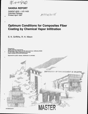 Primary view of object titled 'Optimum conditions for composites fiber coating by chemical vapor infiltration'.