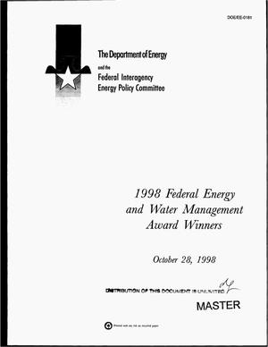 Primary view of object titled '1998 federal energy and water management award winners'.