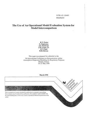 Primary view of object titled 'Use of an operational model evaluation system for model intercomparison'.