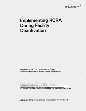 Primary view of object titled 'Implementing RCRA during facility deactivation'.