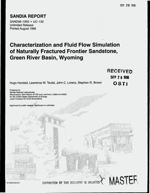 Primary view of object titled 'Characterization and fluid flow simulation of naturally fractured Frontier sandstone, Green River Basin, Wyoming'.