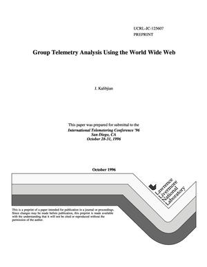 Primary view of object titled 'Group telemetry analysis using the World Wide Web'.