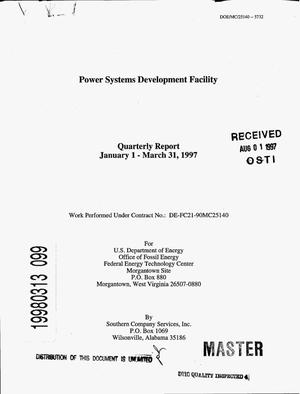 Primary view of object titled 'Power Systems Development Facility. First quarterly report, 1997'.