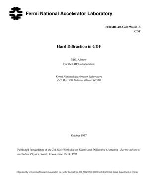 Primary view of object titled 'Hard diffraction in CDF'.