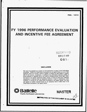 Primary view of object titled 'FY 1996 performance evaluation and incentive fee agreement for the Pacific Northwest National Laboratory'.