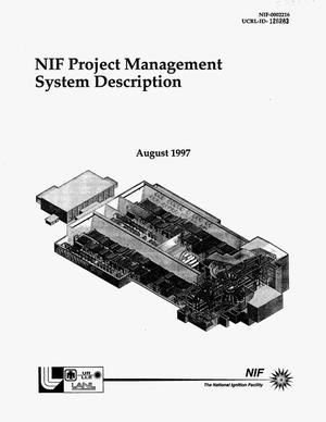 Primary view of object titled 'NIF Project Management System Description'.