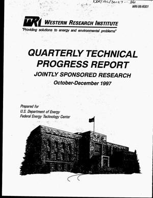 Primary view of object titled 'Providing solutions to energy and environmental problems. Quarterly technical progress report, October 1, 1997--December 31, 1997'.