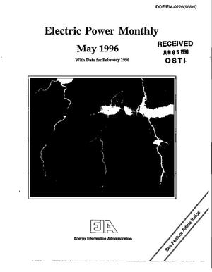 Primary view of object titled 'Electric power monthly, May 1996'.