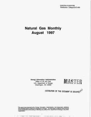 Primary view of object titled 'Natural gas monthly, August 1997'.