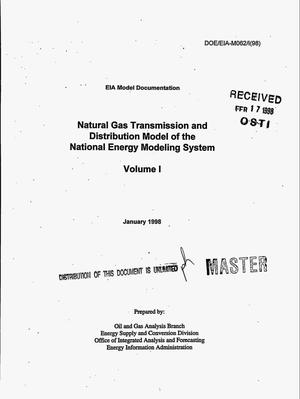 Primary view of object titled 'Natural Gas Transmission and Distribution Model of the National Energy Modeling System. Volume 1'.