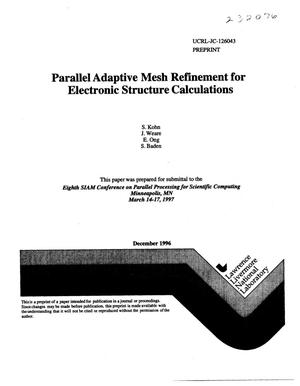 Primary view of object titled 'Parallel adaptive mesh refinement for electronic structure calculations'.