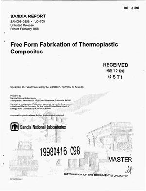 Primary view of object titled 'Free form fabrication of thermoplastic composites'.