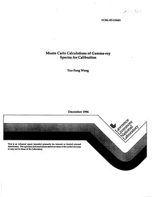 Primary view of object titled 'Monte Carlo calculations of gamma-ray spectra for calibration'.
