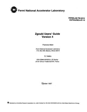 Primary view of object titled 'Zgoubi user`s guide. Version 4'.