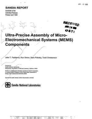 Primary view of object titled 'Ultra-Precise Assembly of Micro-Electromechanical Systems (MEMS) Components'.