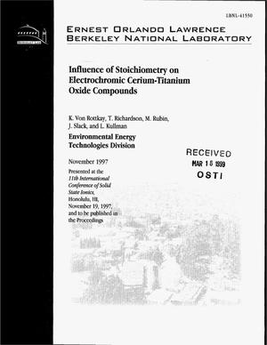 Primary view of object titled 'Influence of stoichiometry on the electrochromiccerium-titanium oxide compounds'.