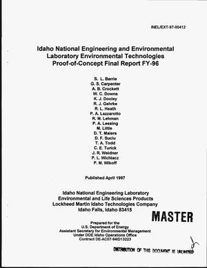 Primary view of object titled 'Idaho National Engineering and Environmental Laboratory Environmental Technologies Proof-of-Concepts. Final report FY-96'.