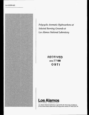 Primary view of object titled 'Polycyclic aromatic hydrocarbons at selected burning grounds at Los Alamos National Laboratory'.