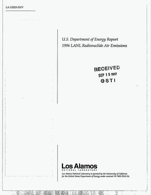 Primary view of object titled 'US Department of Energy report 1996 LANL radionuclide air emissions'.
