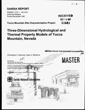 Primary view of object titled 'Three-dimensional hydrological and thermal property models of Yucca Mountain, Nevada'.