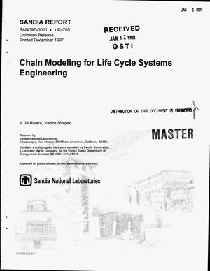 Primary view of object titled 'Chain modeling for life cycle systems engineering'.