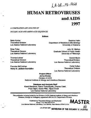 Primary view of object titled 'Human retroviruses and AIDS 1997'.
