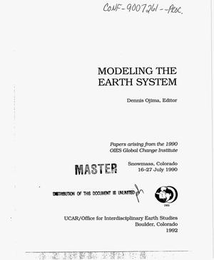 Primary view of object titled 'Modeling the earth system'.