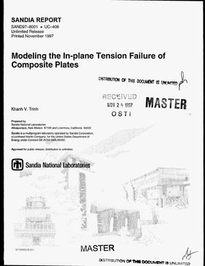 Primary view of object titled 'Modeling the in-plane tension failure of composite plates'.