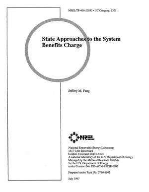 Primary view of object titled 'State approaches to the system benefits charge'.