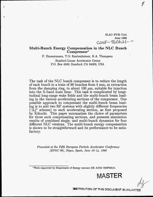 Primary view of object titled 'Multi-bunch energy compensation in the NLC bunch compressor'.