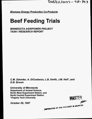 Primary view of object titled 'Alfalfa leaf meal in finishing steer diets. Quarterly report, July 1, 1997--September 30, 1997'.