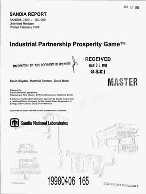 Primary view of object titled 'Industrial Partnership Prosperity Game{trademark}'.