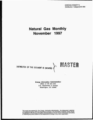 Primary view of object titled 'Natural gas monthly, November 1997'.