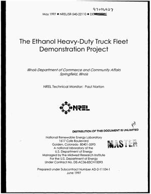 Primary view of object titled 'The ethanol heavy-duty truck fleet demonstration project'.