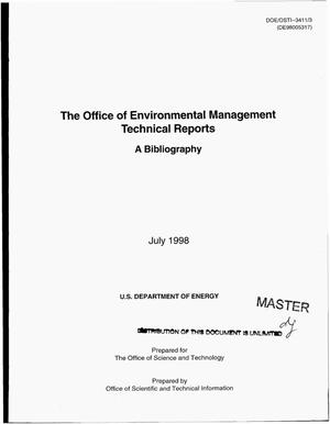 Primary view of object titled 'The Office of Environmental Management technical reports: A bibliography'.