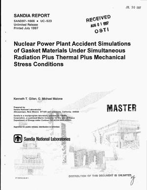 Primary view of object titled 'Nuclear power plant accident simulations of gasket materials under simultaneous radiation plus thermal plus mechanical stress conditions'.