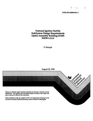 Primary view of object titled 'National Ignition Facility subsystem design requirements optics assembly building (OAB) SSDR 1.2.2.3'.