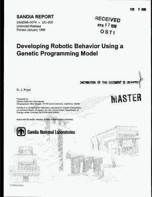 Primary view of object titled 'Developing robotic behavior using a genetic programming model'.
