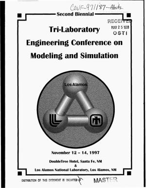Primary view of object titled 'Second biennial tri-laboratory engineering conference on modeling and simulation'.