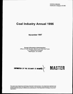Primary view of object titled 'Coal industry annual 1996'.