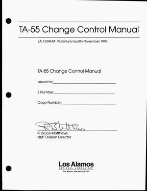 Primary view of object titled 'TA-55 change control manual'.