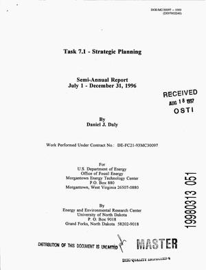 Primary view of object titled 'Task 7.1 - Strategic Planning: Semi-annual report, July 1- December 31, 1996.'.
