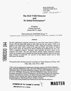 Primary view of object titled 'The SLD VXD3 detector and its initial performance'.