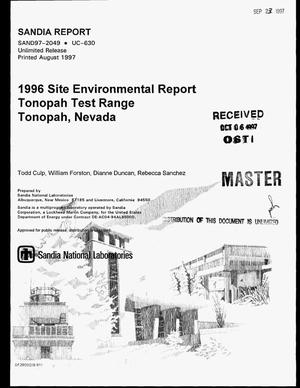Primary view of object titled '1996 Site environmental report Tonopah test range Tonopah, Nevada'.