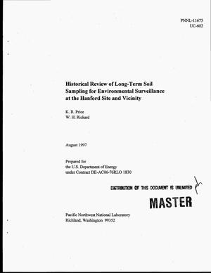 Primary view of object titled 'Historical review of long-term soil sampling for environmental surveillance at the Hanford Site and vicinity'.