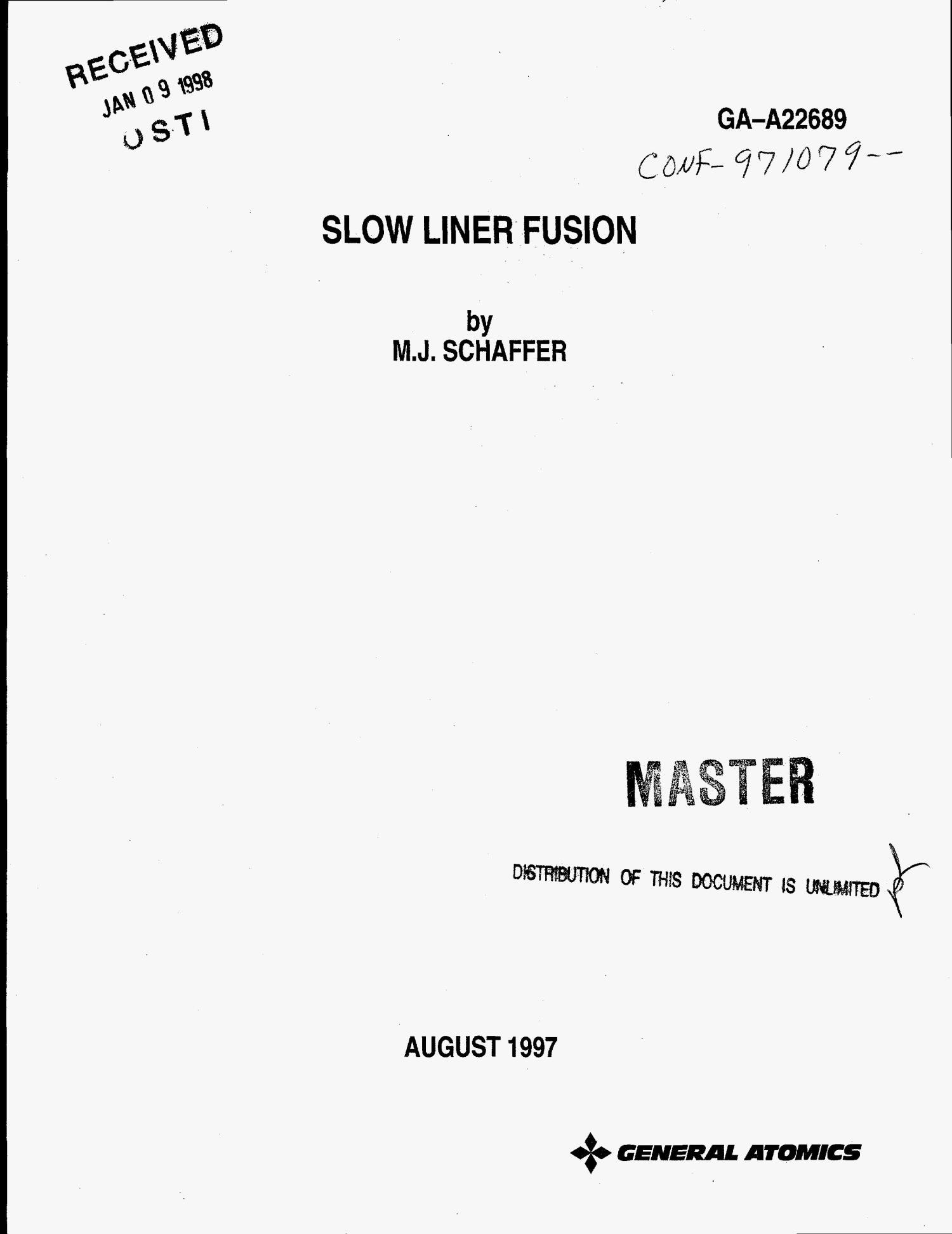 Slow liner fusion                                                                                                      [Sequence #]: 1 of 7