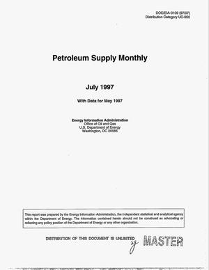 Primary view of object titled 'Petroleum supply monthly, July 1997 with data from May 1997'.