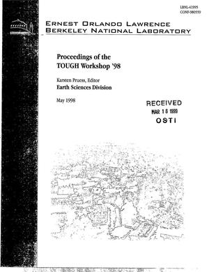 Primary view of object titled 'Proceedings of the TOUGH Workshop 1998'.